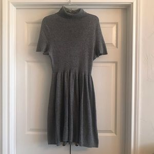 American Eagle Grey Sweater Turtleneck Dress